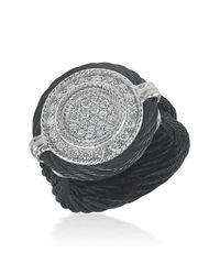 Alor | 18k Gold Plated Black Round Diamond Ring - Size 6.5 - 0.34 Ctw | Lyst