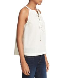 Joie - Natural 'arabeth' Lace-up Tank - Lyst