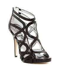 Sam Edelman | Black Eden Caged Heel Sandal | Lyst