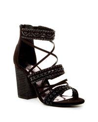 Carlos By Carlos Santana | Black Java Block Heel Sandal | Lyst