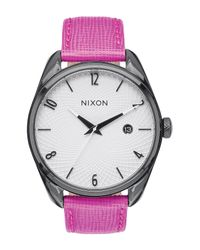 Nixon | Multicolor Women's Bullet Leather Strap Watch | Lyst