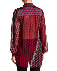 Analili - Red Geometric Printed Blouse - Lyst