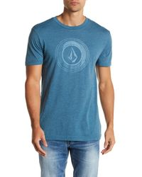Volcom | Blue Sprinkler Stone Short Sleeve Tee for Men | Lyst