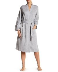 Natori | Gray Quilted Robe | Lyst