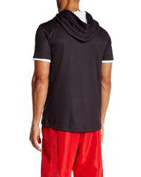 Adidas Originals - Black Hero Short Sleeve Hoodie for Men - Lyst