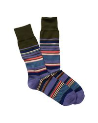 Paul Smith | Blue Nautical Crew Socks for Men | Lyst