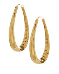 Nadri - Metallic 18k Gold Plated Flat Hoop Earrings - Lyst