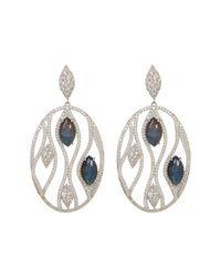 Nadri | Metallic Large Pave Calypso Labradorite Openwork Circle Drop Earrings | Lyst