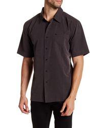 Quiksilver | Black Centinela Textured Short Sleeve Shirt for Men | Lyst