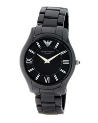 Emporio Armani | Black Men's Ceramic Bracelet Watch for Men | Lyst