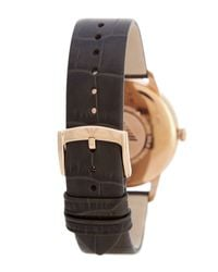 Emporio Armani | Gray Men's Leather Strap Watch for Men | Lyst