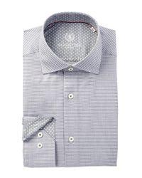 Bugatchi | Multicolor Twill Trim Fit Dress Shirt for Men | Lyst