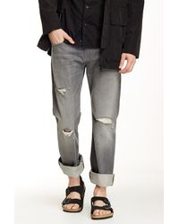 7 For All Mankind | Blue Ronnie Luxe Performance Tex Grey for Men | Lyst