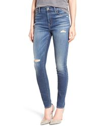 7 For All Mankind | Blue High Waist Skinny Jean | Lyst