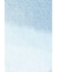 7 For All Mankind - Blue 7 For All Mankind High Waist Step Hem Denim Shorts - Lyst