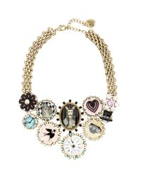 Betsey Johnson - Multicolor Wonderland Frontal Drama Necklace - Lyst