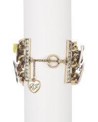 Betsey Johnson - Metallic Wonderland Charm Toggle Bracelet - Lyst