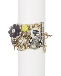 Betsey Johnson - Metallic Wonderland Charm Toggle Bracelet - Lyst