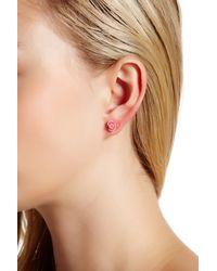 Betsey Johnson - Pink Rose Stud & Cuff Mix Match Earrings - Lyst
