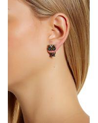 Betsey Johnson | Pink Rhinestone Owl Earring Jackets | Lyst