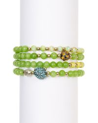 Betsey Johnson | Green Owl Stretch Bracelet Set | Lyst