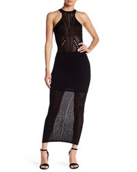Wow Couture | Black Halter Neck Woven Maxi Dress | Lyst