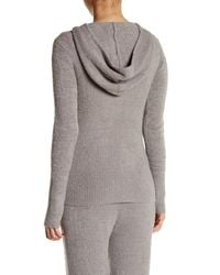 Barefoot Dreams - Gray Chic Lite Hood Sweater - Small - Lyst
