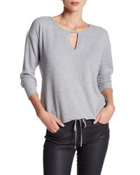 Democracy - Gray Thermal Knit Tee - Lyst
