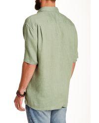 Pendleton - Green Morrison Regular Fit Linen Camp Shirt for Men - Lyst