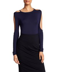 Bailey 44 - Blue Cold Shoulder Open Sleeve Shirt - Lyst