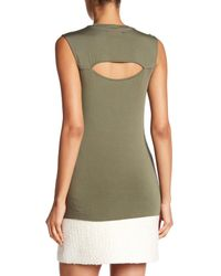 Bailey 44 | Green Front Cutout Fitted Tank | Lyst