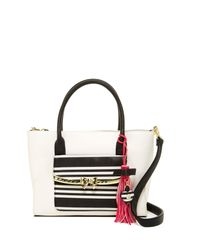 Betsey Johnson | Multicolor Metal Bow Flap Tote With Wristlet | Lyst