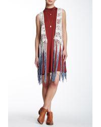 Betsey Johnson | Red Crochet Vest Cover-up | Lyst