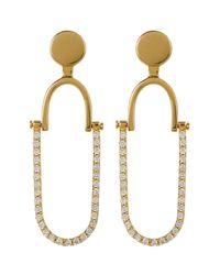 Botkier - Metallic Embellished Oval Drop Stud Earrings - Lyst
