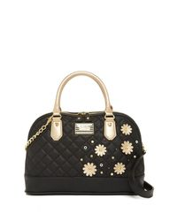 Betsey Johnson | Black Be Mine Dome Satchel | Lyst
