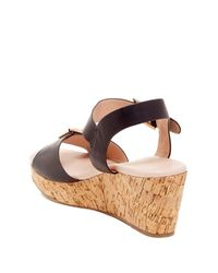 Restricted - Black Break-up Wedge Sandal - Lyst