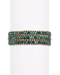 Chan Luu - Multicolor African Turquoise Mix Beaded Wrap Bracelet - Lyst