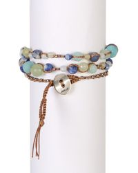 Chan Luu - Metallic Sterling Silver & Amazonite Mix Beaded Wrap Bracelet - Lyst