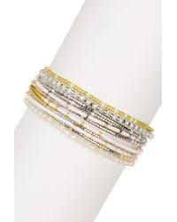 Chan Luu - Multicolor Multi Strand Seed Bead Bracelet - Lyst