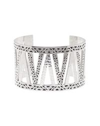 Lois Hill | Metallic Sterling Silver Large Hand Carved Scroll Cuff | Lyst