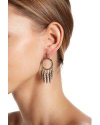 House of Harlow 1960 - Metallic Vibratio Fringe Drop Earrings - Lyst
