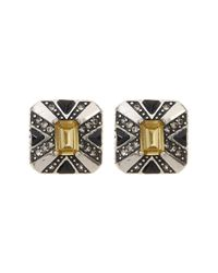 House of Harlow 1960 | Metallic Art Deco Stud Earrings | Lyst
