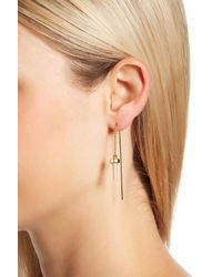 House of Harlow 1960 - Metallic Raw Crystal Threader Earrings - Lyst