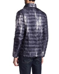 Antony Morato - Blue Quilted Pattern Coat for Men - Lyst