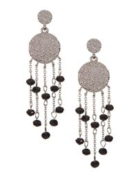 Karen Kane - White Syndy Chandelier Earrings - Lyst