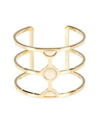 Vince Camuto | Metallic Milky Resin Cutout Cuff | Lyst