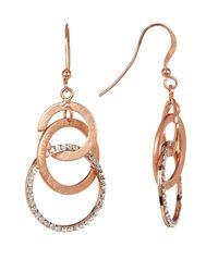 R U S H By DENIS & CHARLES - Metallic Crystal Accented Orbit Drop Earrings - Lyst
