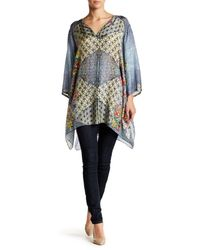 Johnny Was | Multicolor Floral Silk Tunic | Lyst