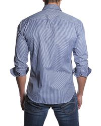 Jared Lang - Blue Houndstooth Semi-fitted Shirt for Men - Lyst