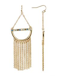 Catherine Malandrino - Metallic Chandelier Earrings - Lyst